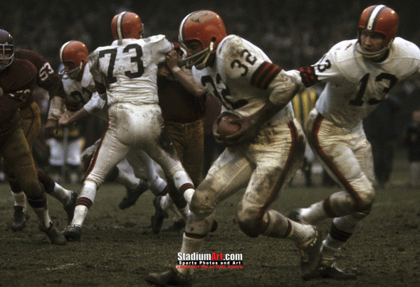 Cleveland Browns Jim Brown Football Photo Print 03 8x10-48x36