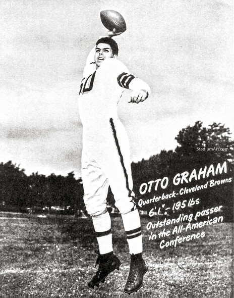 Cleveland Browns Otto Graham Football Photo Print 03 8x10-48x36