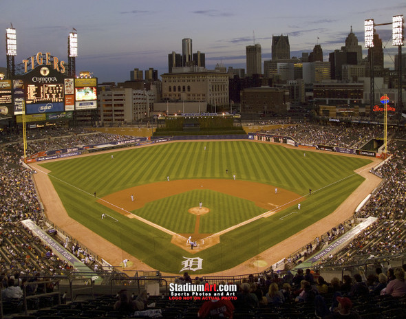 Detroit Tigers Comerica Park Baseball Stadium Photo Print 01 8x10-48x36