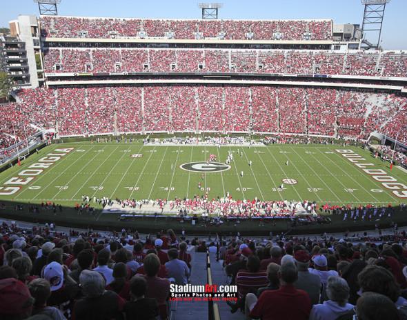 Georgia Bulldogs Sanford Stadium Football Field Photo Print 05 8x10-48x36