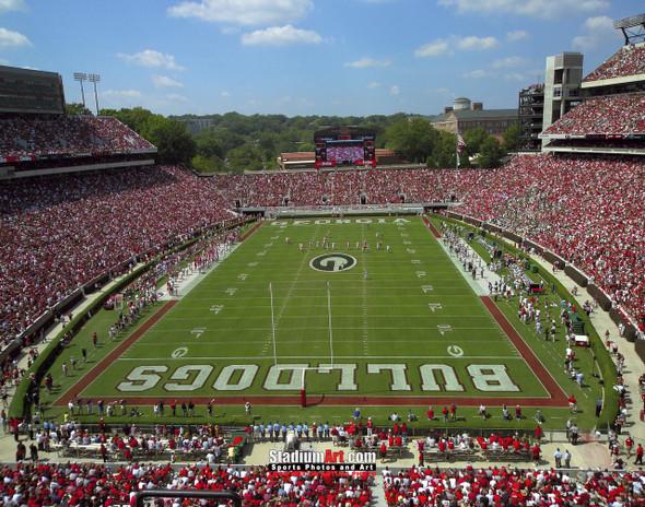 Georgia Bulldogs Sanford Stadium Football Field Photo Print 06 8x10-48x36