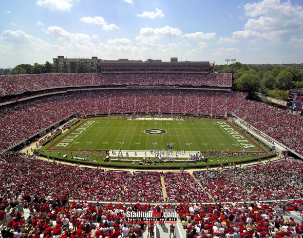 Georgia Bulldogs Sanford Stadium Football Field Photo Print 10 8x10-48x36