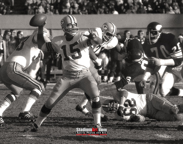 Green Bay Packers Bart Starr Football 8x10-48x36 Photo Print 50