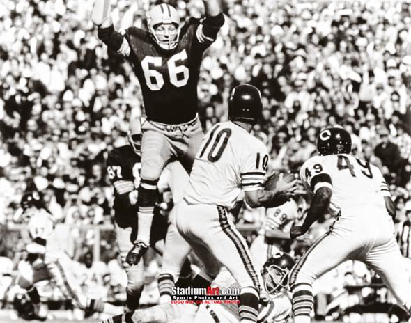 Green Bay Packers Ray Nitschke Football 8x10-48x36 Photo Print 53