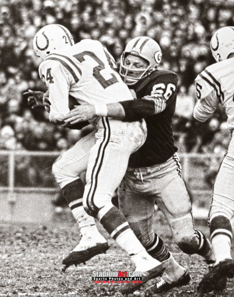 Green Bay Packers Ray Nitschke Football 8x10-48x36 Photo Print 54