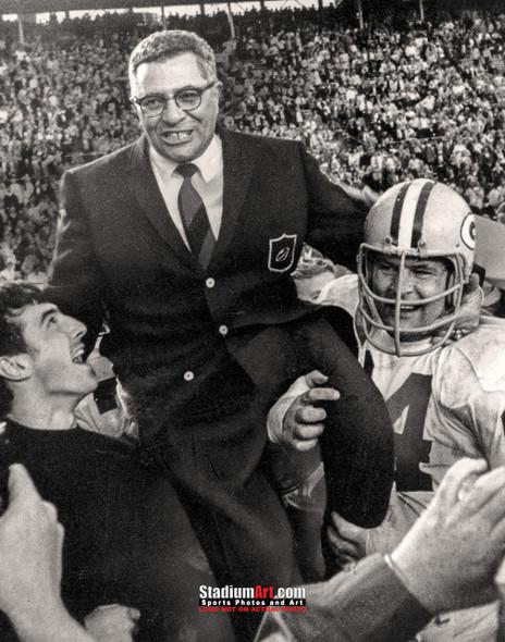 Green Bay Packers Vince Lombardi Football 8x10-48x36 Photo Print 51b