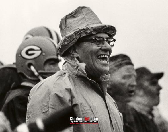 Green Bay Packers Vince Lombardi Football 8x10-48x36 Photo Print 53