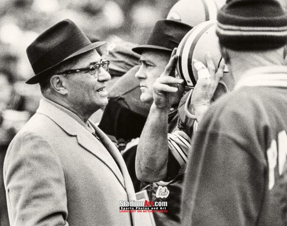 Green Bay Packers Vince Lombardi Football 8x10-48x36 Photo Print 58