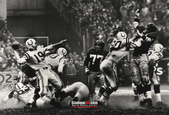 Indianapolis Colts z Baltimore Johnny Unitas Football 8x10-48x36 Photo Print 50