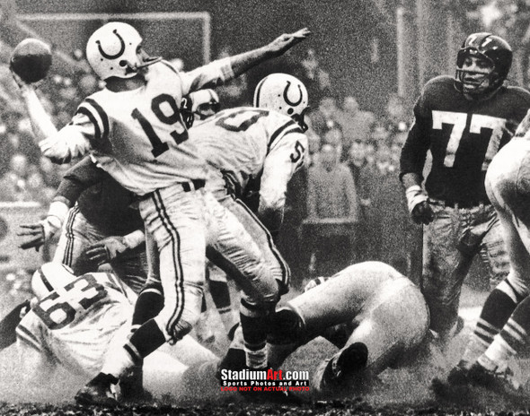 Indianapolis Colts z Baltimore Johnny Unitas Football 8x10-48x36 Photo Print 50b