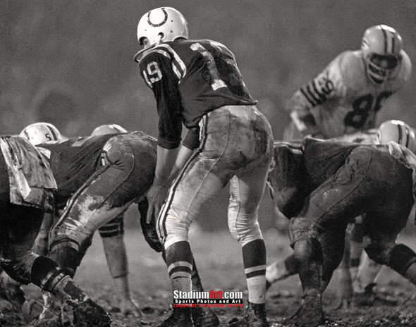 Indianapolis Colts z Baltimore Johnny Unitas Football 8x10-48x36 Photo Print 63