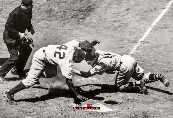 Los Angeles Dodgers Jackie Robinson LA Brooklyn Photo Art Print 13x19 or 24x36 StadiumArt.com Sports Photos