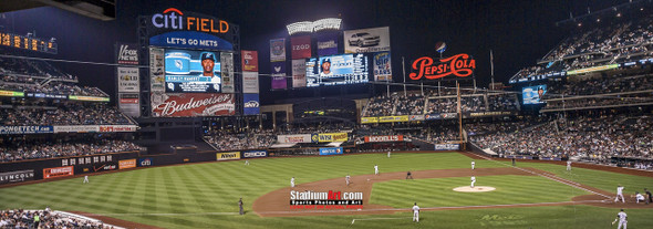 New York Mets Citi Field NY Baseball Stadium Photo Art Print 13x37 StadiumArt.com Sports Photos