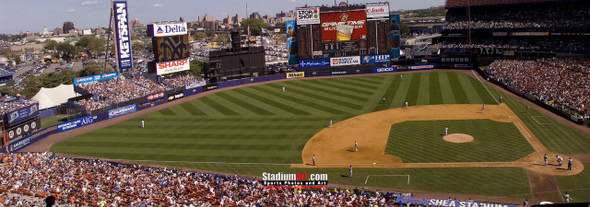 New York Mets Shea Stadium NY Baseball Stadium Photo Art Print 13x37 StadiumArt.com Sports Photos