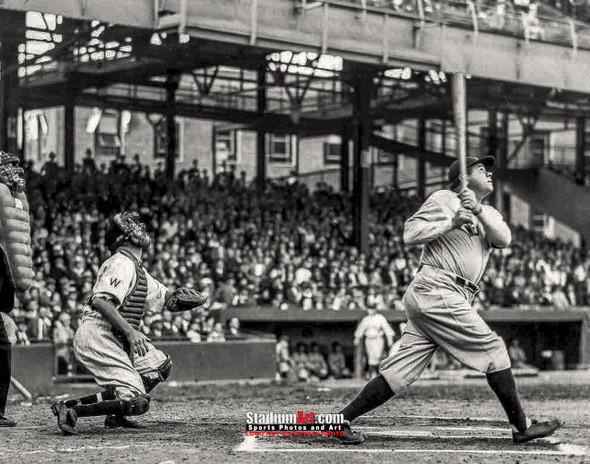 New York Yankees z Babe Ruth NY Baseball 8x10-48x36 Photo Print 63