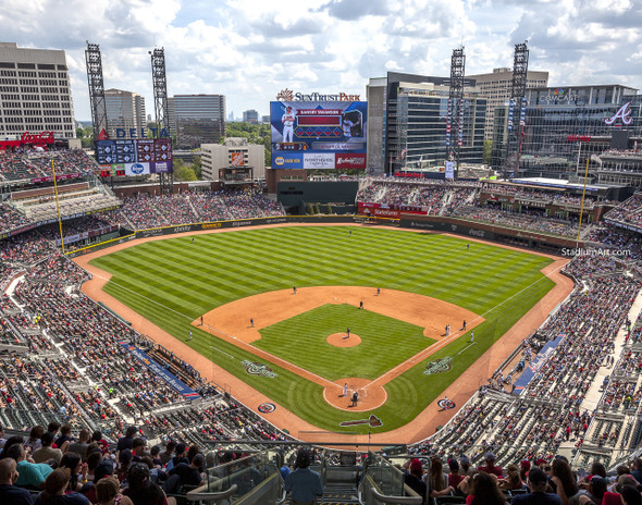 Atlanta Braves SunTrust Park New Baseball Stadium 03 MLB 8x10-48x36 CHOICES