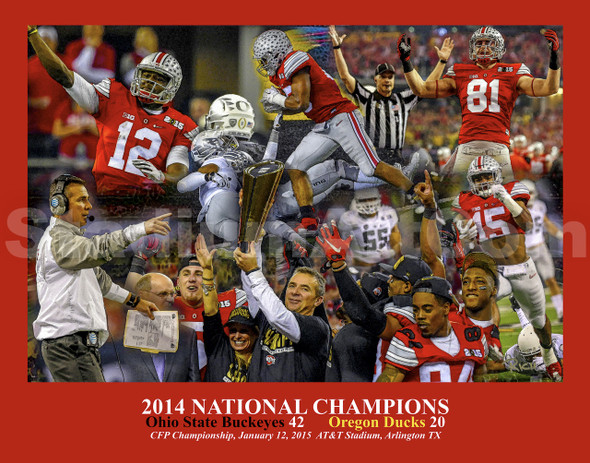 Ohio State Buckeyes National Champions 2014 NCAA College Football Photo Art Print 8x10 or 11x14 or 40x30 StadiumArt.com Sports Photos