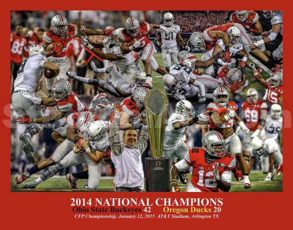 Ohio State Buckeyes National Champions 2014 NCAA College Football Photo Art Print 8x10 or 11x14 or 40x30 StadiumArt.com Sports Photos