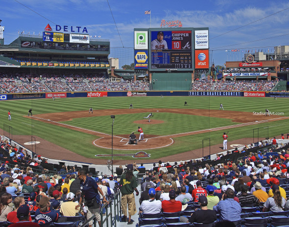 Atlanta Braves Turner Field Chipper Jones Baseball Stadium 01 MLB 8x10-48x36 CHOICES