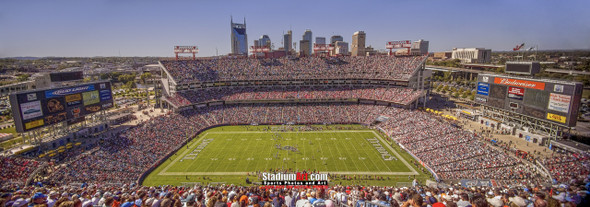 Tennessee Titans Nissan Stadium NFL Football Photo Art Print 13x37 StadiumArt.com Sports Photos