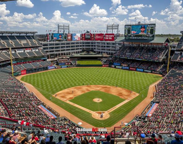 Texas Rangers Globe Life Park in Arlington MLB Baseball Stadium 8x10 or 11x14 or 40x30 photo StadiumArt.com Sports Photos
