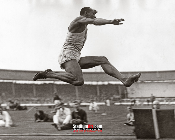 Jesse Owens Track Long Jump Olympics 8x10 or 11x14 or 40x30 photo StadiumArt.com Sports Photos