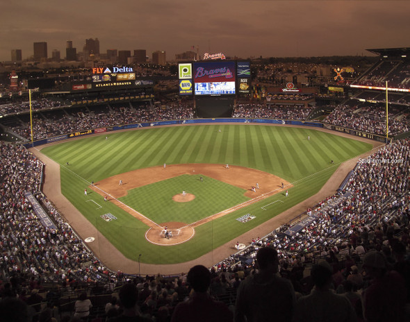 Atlanta Braves Turner Field Baseball Stadium 03 MLB 8x10-48x36 CHOICES