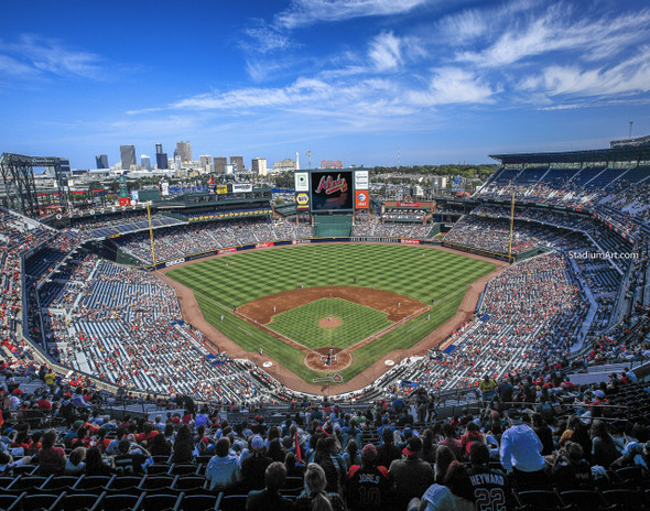 Atlanta Braves Turner Field Baseball Stadium 06 MLB 8x10-48x36 CHOICES