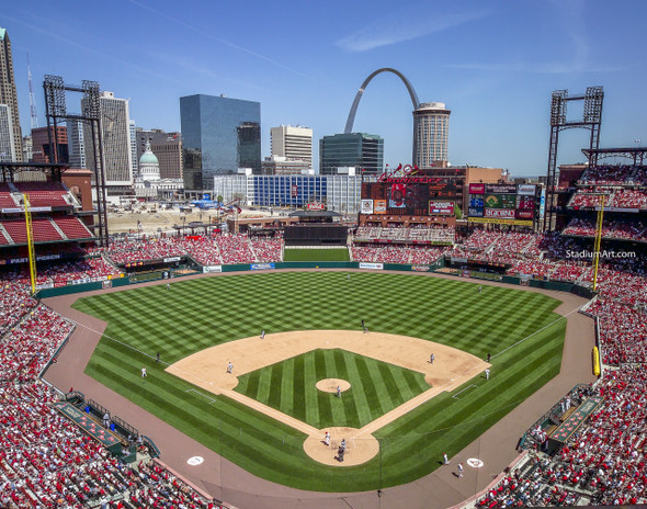 St. Louis Cardinals Busch Stadium 11 MLB 8x10-48x36 CHOICES