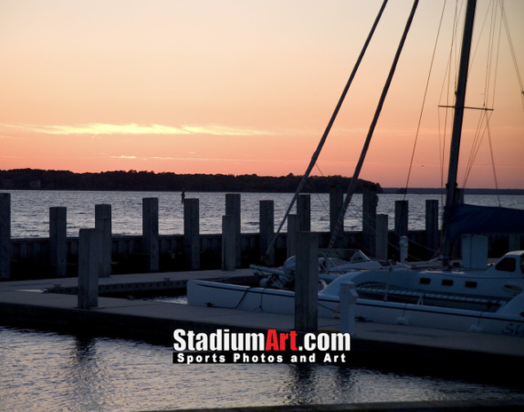 Harbour Town Golf Links at The Sea Pines Resort Sunset Dock  8x10-48x36 Photo Print 1960