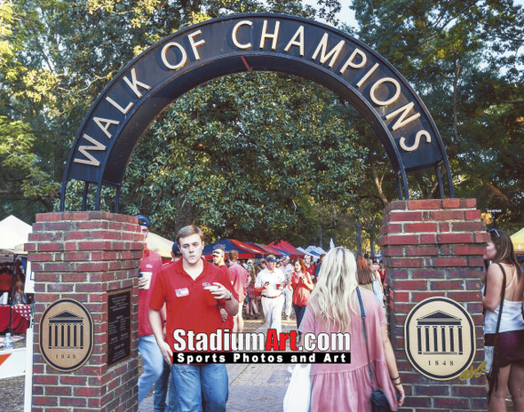 Ole Miss Rebels Mississippi Walk of Champions Grove NCAA College Football 8x10-48x36 Photo Print 5310