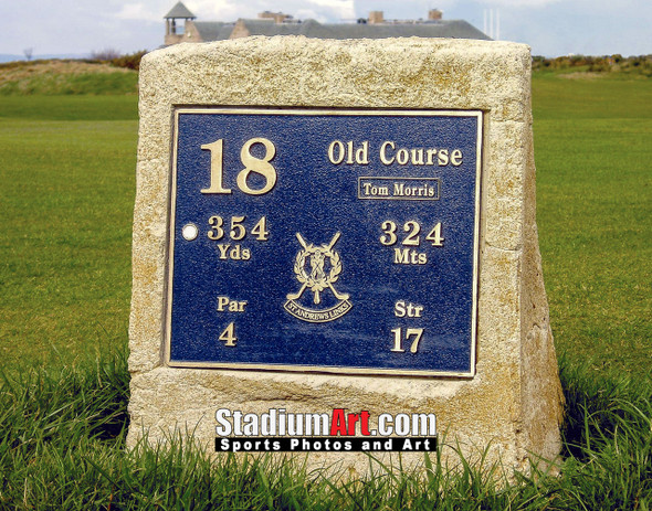 St Andrews Links Old Course 2150 Tee Marker  8x10-48x36 Photo Print