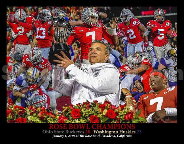 Ohio State Buckeyes Football Rose Bowl 2019 Champions Urban Meyer