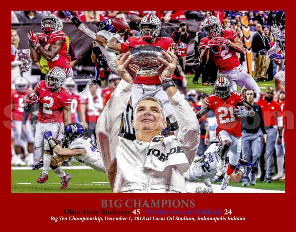 Ohio State Buckeyes B1G Champions 2018 Big Ten Urban Meyer