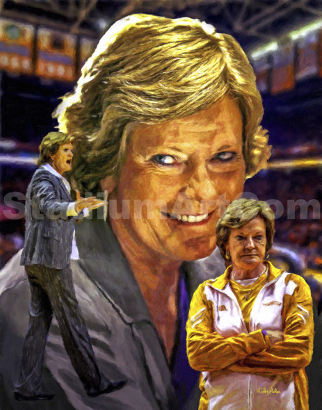 Pat Summitt Legendary Tennessee Lady Vols Womens Basketball Coach