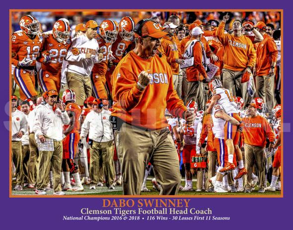 Clemson Tigers Dabo Swinney Coach