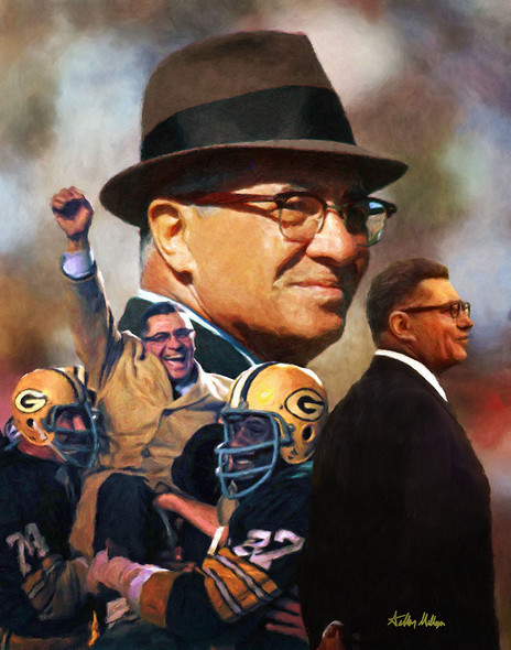 Green Bay Packers Vince Lombardi NFL Football Art Print 8x10 or 11x14 or 16x20 or 40x30 StadiumArt.com Sports Photos