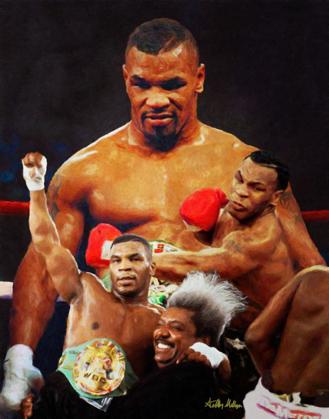 Mike Tyson Boxer Boxing Art Print 2510 8x10-48x36