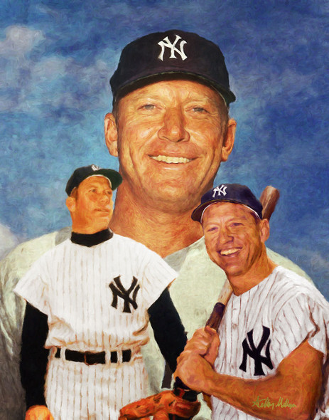 Mickey Mantle NY Yankees New York MLB Baseball Stadium Field Art Print 8x10 or 11x14 or 16x20 or 40x30 StadiumArt.com Sports Photos main image 2520