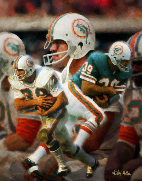 Larry Csonka Miami Dolphins Running Back NFL Football Art Print 8x10-48x36 2510