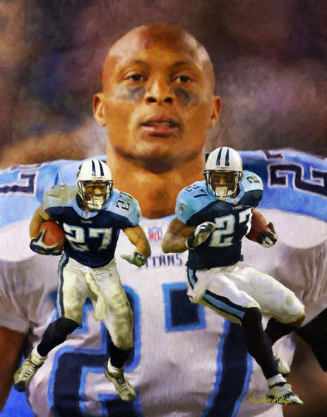 Eddie George Tennessee Titans Running Back NFL Football Art Print 8x10-48x36 2510