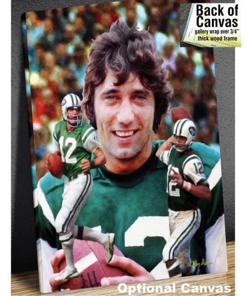 Joe Namath New York Jets QB Quarterback NFL Football Art Print 8x10-48x36 canvas frame example