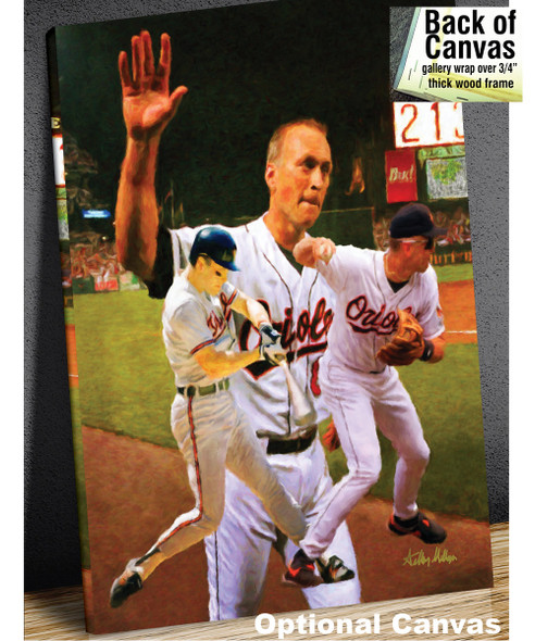 Cal Ripken Baltimore Orioles MLB Baseball Stadium Field Art Print 2520 8x10-48x36 canvas frame example