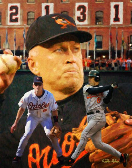 Cal Ripken Baltimore Orioles MLB Baseball Stadium Field Art Print 2510 8x10-48x36