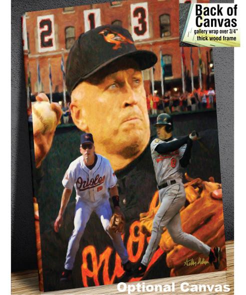 Cal Ripken Baltimore Orioles MLB Baseball Stadium Field Art Print 2510 8x10-48x36 canvas frame example