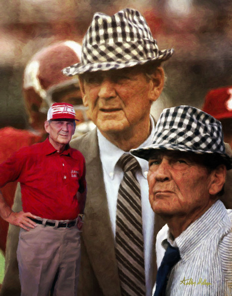 Alabama Crimson Roll Bear Bryant College Football Art Print 2520 8x10-48x36