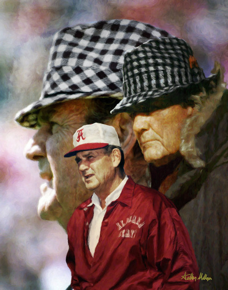 Alabama Crimson Roll Bear Bryant College Football Art Print 2530 8x10-48x36