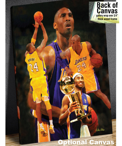 Kobe Bryant Los Angeles Lakers LA Art NBA Basketball Art 8x10-48x36 Art Print 2530 canvas frame example
