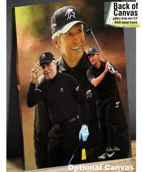 Gary Player Masters and Open Champion PGA Golf Professional Golfer Art Print 2510 8x10-48x36 canvas frame example