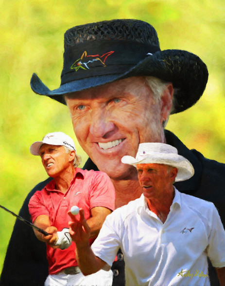 Greg Norman The Shark PGA Golf Professional Golfer Art Print 2510 8x10-48x36